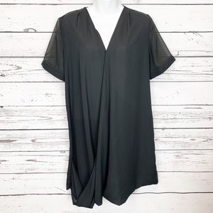 STELLA LUCE | Black sheer tunic blouse